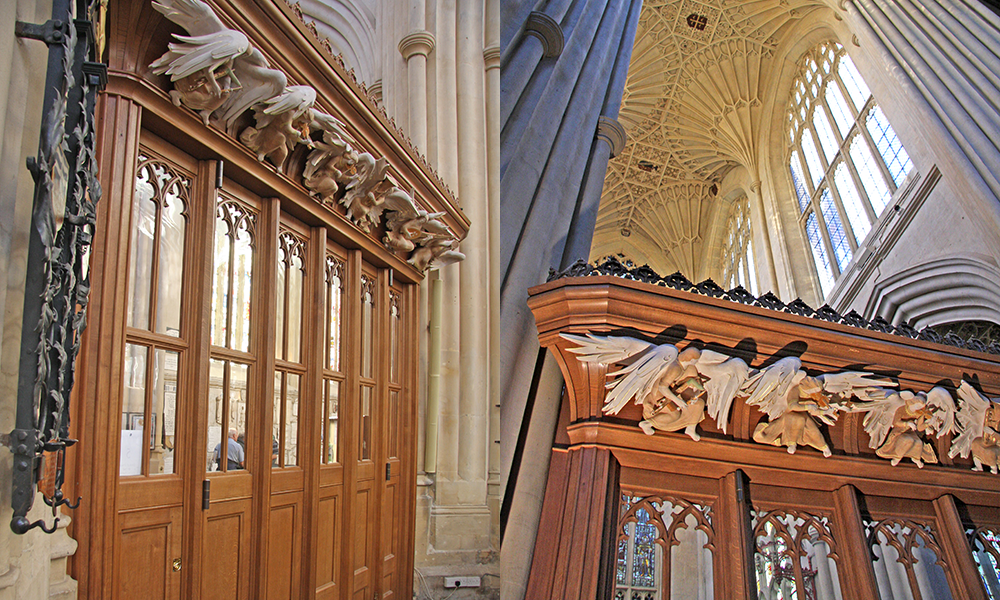 We made the screens and were commissioned to design the angels which were created by Paul Fletcher ARCA.