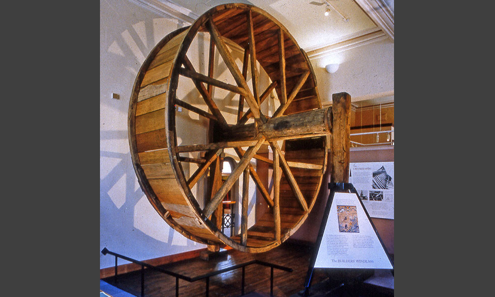 Chesterfield Museum: Chesterfield: builder's wheel