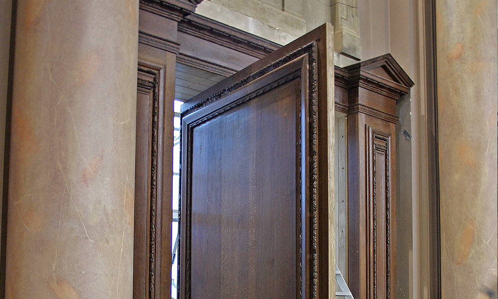 Eton College, Windsor, Berks: New access door to School Hall