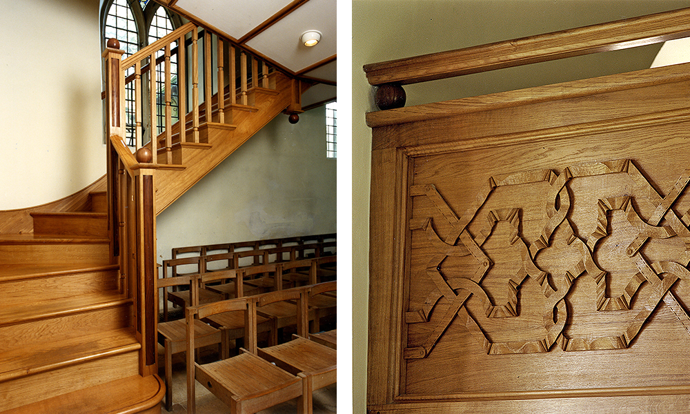 Hanford School, Child Okeford, Dorset: Gallery in chapel