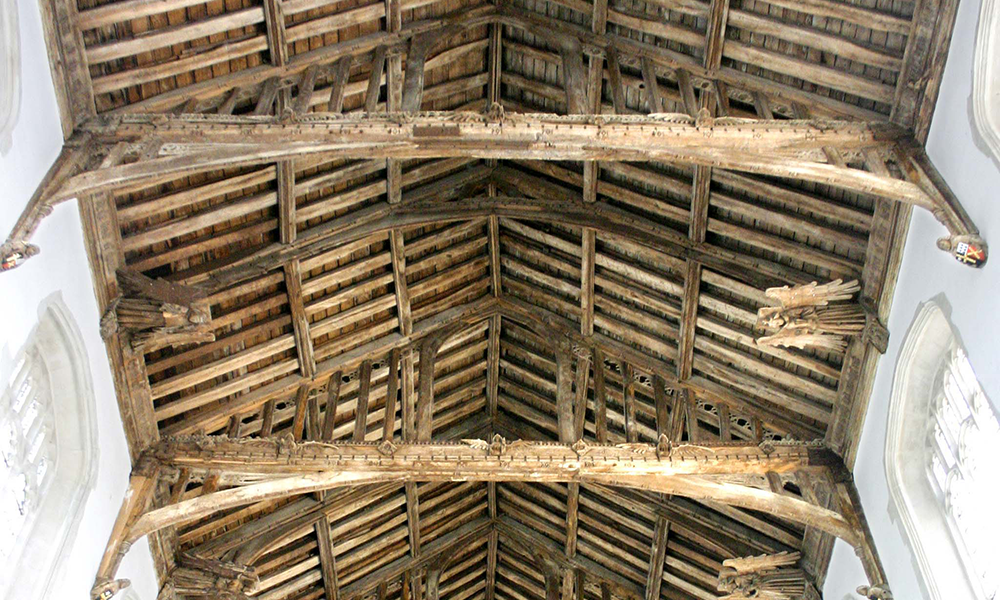 St Andrew's Church, Isleham, Cambs: Nave Roof
