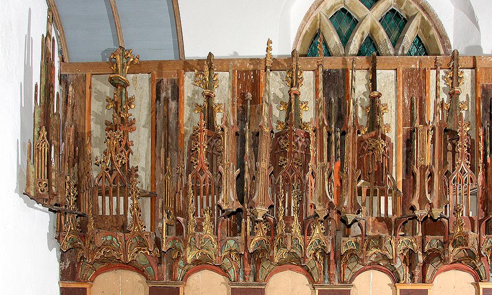 St Cadoc's Church, Llancarfan, Glamorgan: Survey of Reredos