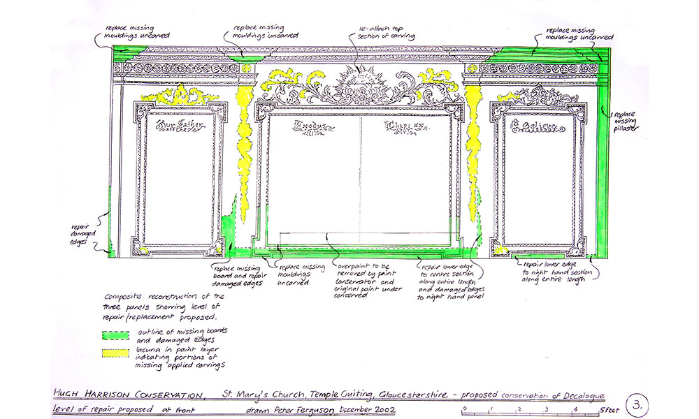 Drawing showing conservation proposals.