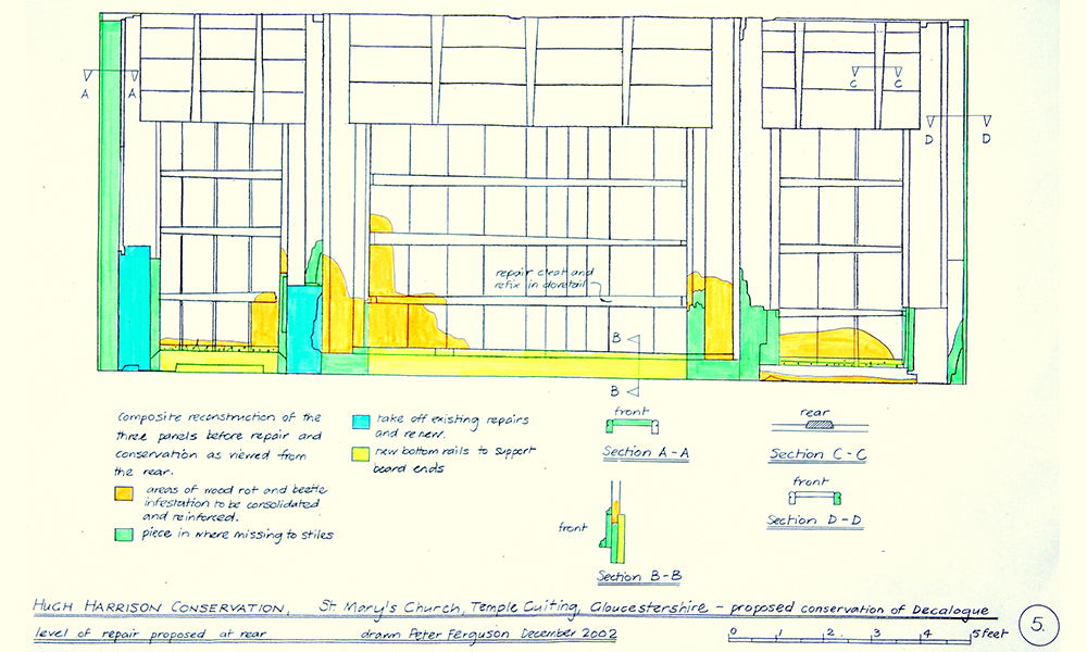 Drawing showing extent of work carried out.