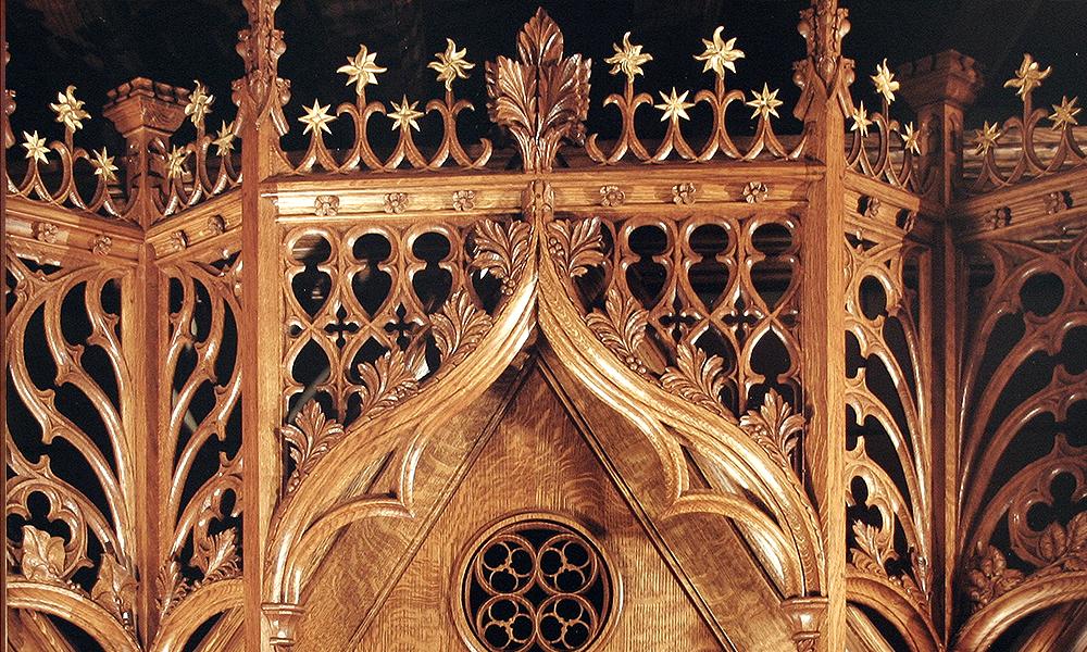 St Thomas, 5th Ave, New York: Canopy for columbarium