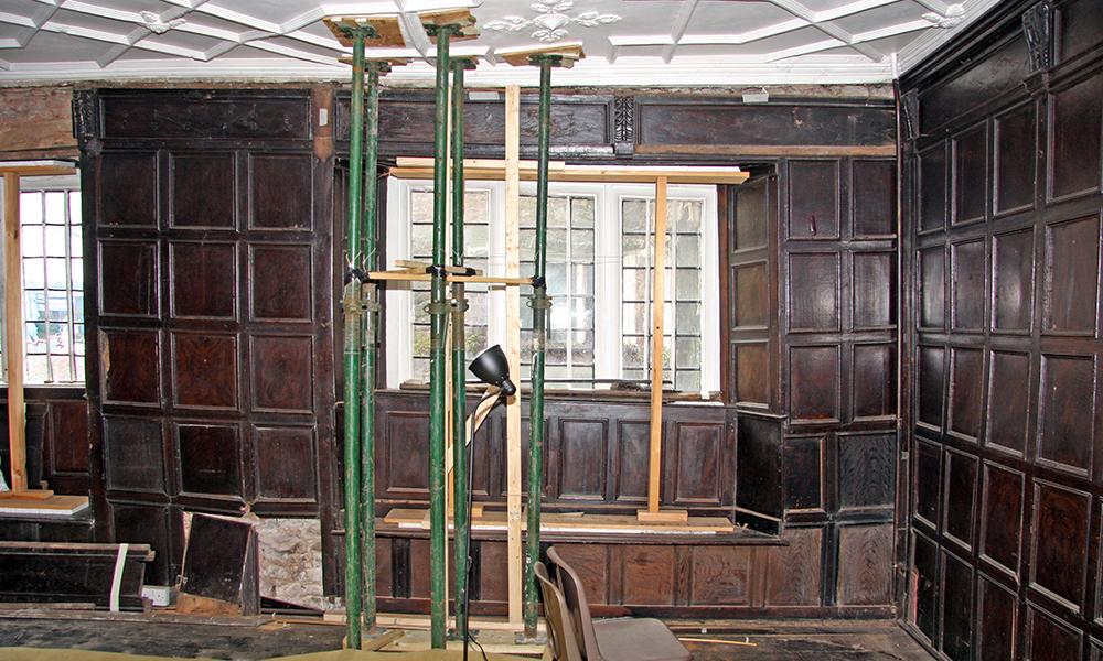 The Walronds, Cullompton, Devon: Survey of panelling