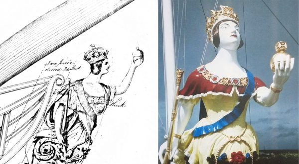 Figurehead from Royal Navy Ship HMS Windsor Castle