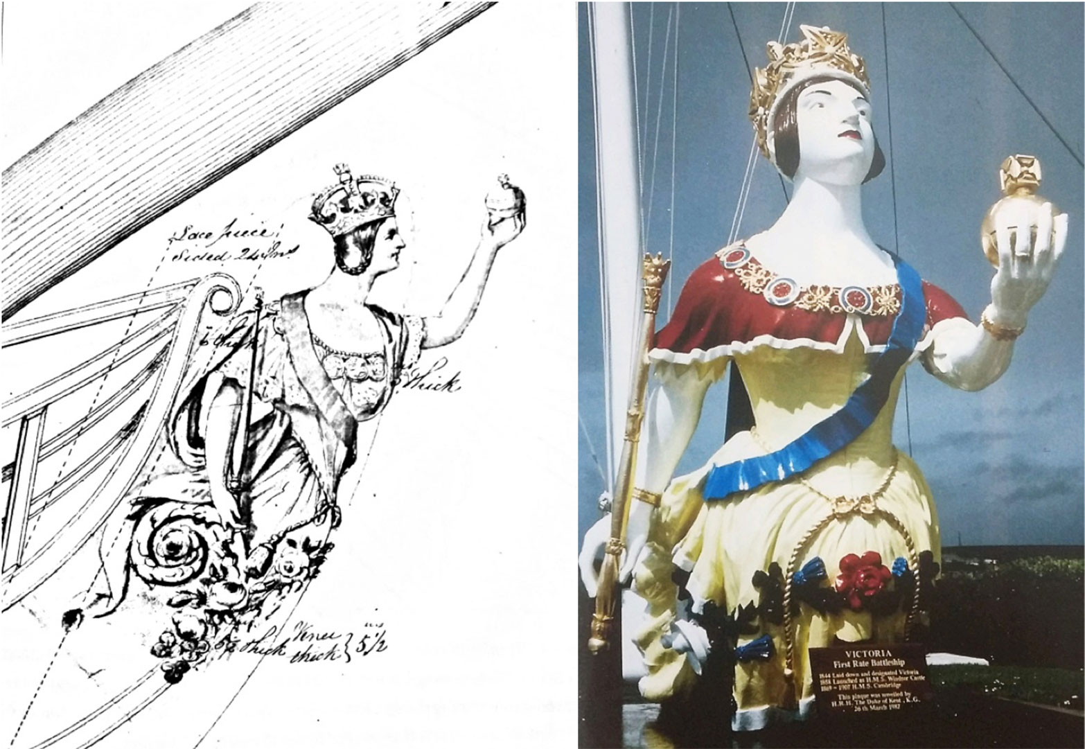 Figurehead from Royal Navy Ship HMS Windsor Castle